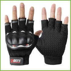 Găng tay, bao tay nam có gù bảo vệ, đầu ngón có thiết kế phản quang Q9