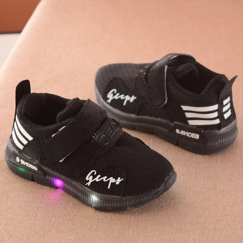 Giày thể thao siêu nhẹ cho bé Gupy đèn led màu trắng,hồng,đen_KM