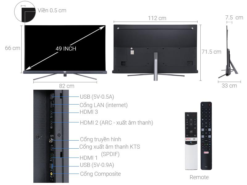 Android Tivi 4K TCL 55 Inch L55C6-UF