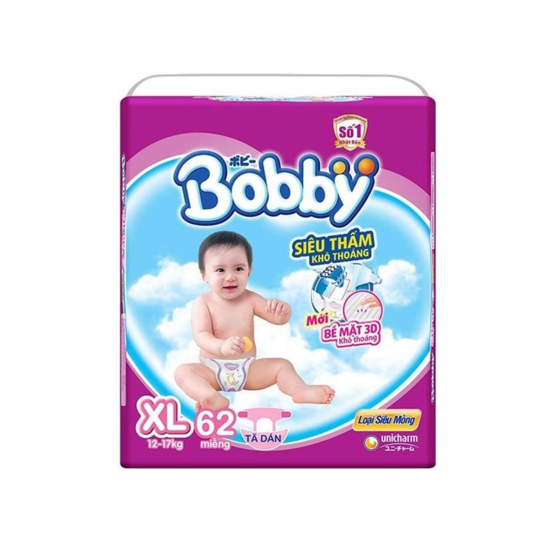 Tã giấy Bobby siêu mỏng XL62