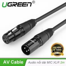 Dây Audio nối dài MIC XLR (Cannon) 6mm dài 2M UGREEN AV130 20710 – Hãng phân phối chính thức