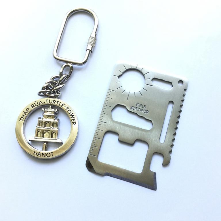 Móc chìa khóa mô hình Tháp Rùa Hà Nội