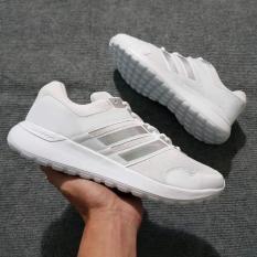 Giày Sneaker Nam Nữ ( Trắng Phối Bạc )