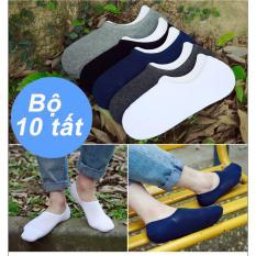 Bộ 10 đôi tất lười trơn Xưởng May giá rẻ 10MEN TAT 10010 (Nhiều màu)