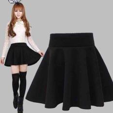 Chân váy xoè vải siêu dày mịn lưng thun ( freesize) màu đen