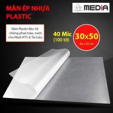 Màn Ép Nhựa Plastic Media 32 x 52cm (30 x 50cm) Dày 40mic 100 Tờ
