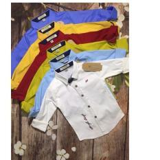 áo sơ mi tay dài bé trai, chất vải đẹp, mịn, mát, co dãn cực tốt, đủ màu như hình