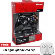 [Tặng tai nghe Iphone] Tay cầm chơi game Xbox 360 chơi FIFA online 04 (Màu ngẫu nhiên)