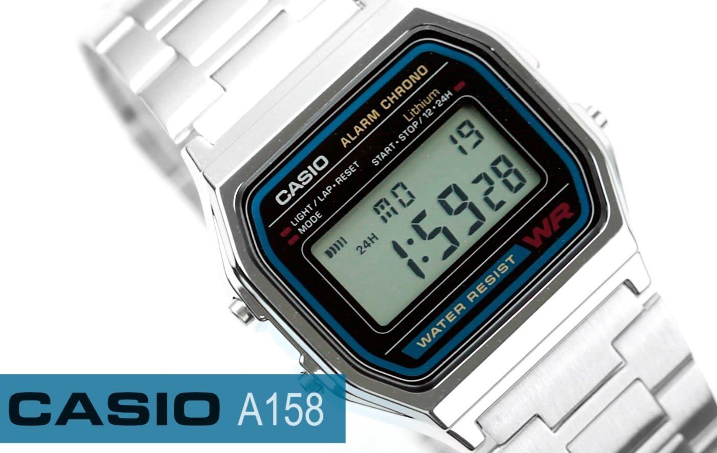 Đồng hồ Casio A158 (Bạc)