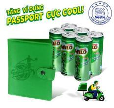 Lốc 6 Lon Nestlé MILO ® Uống Liền 6 lon x 240ml) – tặng 01 Bao da hộ chiếu