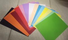 Bộ 50 tờ Giấy bìa cứng đủ màu – khổ a4 – giấy đẹp