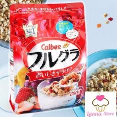 [DATE 12/2019] Ngũ cốc trái cây Calbee màu đỏ gói 800g – Nhật Bản