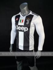 Bộ quần áo bóng đá đồ đá banh Tay Dài CLB JUVENTUS 2018 sọc trắng đen mới nhất