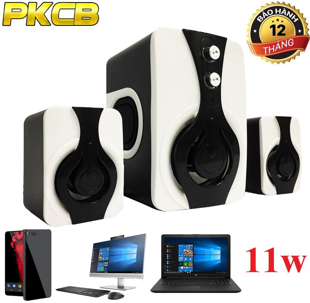 Loa nghe nhạc máy tính, Điện thoại,Tivi bass ấm PKCB 2060 Speakers 2018 2.1 bảo hành uy tín 3 trong...