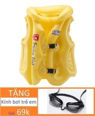 Áo phao bơi đỡ cổ Tặng kính bơi cho trẻ 3-6 tuổi / bể bơi hồ bơi phao bơi áo phao bơi