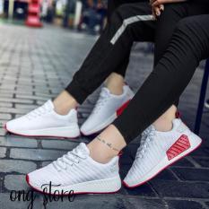 Giày đôi thể thao trắng đế đỏ