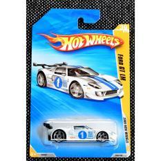 Ô tô mô hình tỉ lệ 1:64 Hot Wheels Ford GT LM 2008 new Models ( Màu Trắng )