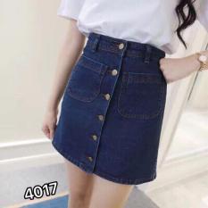 Chân Váy Jeans Chữ A Thời Trang OHS4017-18