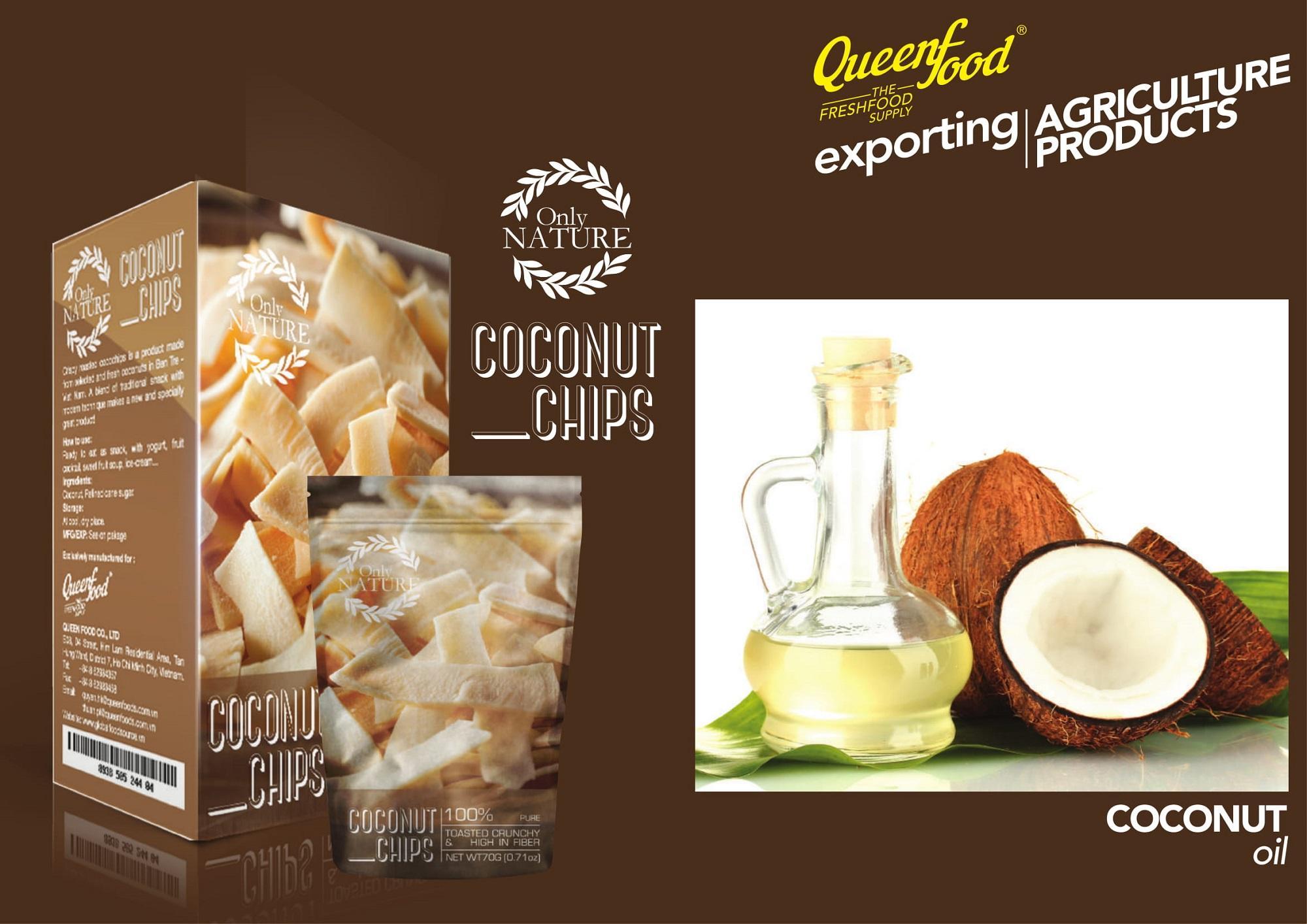 Dừa sấy khô giòn Coconut chips