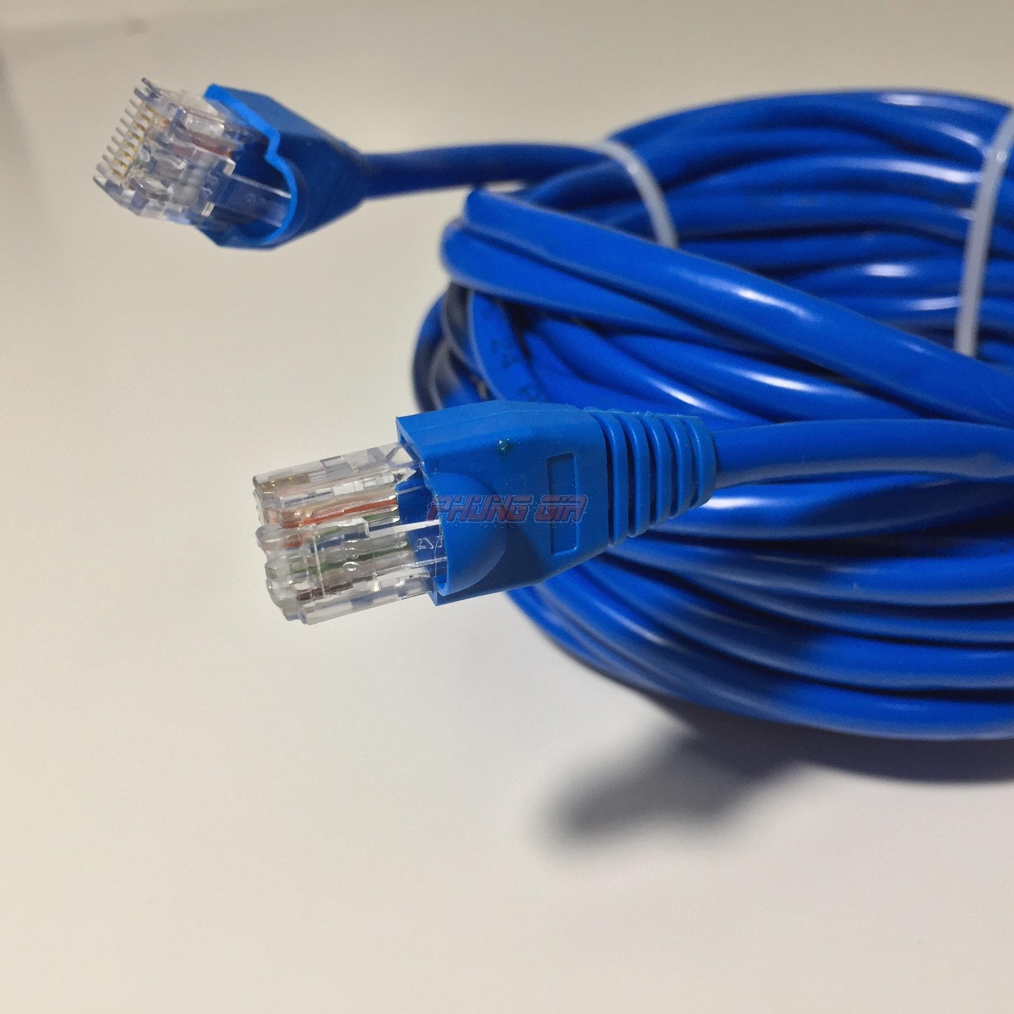 Dây mạng LAN 15 Mét HT-Cat5E UTP – Bấm sẵn 2 đầu
