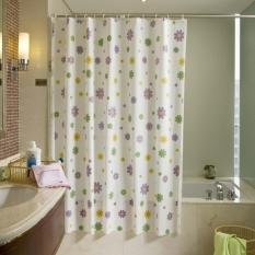 Rèm cửa nhà tắm PEVA Hoa 180x200cm + kèm ảnh thật