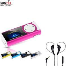 Combo Máy nghe nhạc SUNTEK Mp3+Tai nghe nhét tai cao cấp SUNTEK LYZ TT98