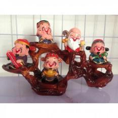 Đế để tượng 5 ông thần tài -ngũ phúc mắt mở gốm cao cấp