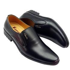[ Chỉ 3 Ngày ] [ SALE BĂNG ] KHO XƯỞNG BUÔN SỈ Giày nam công sở trơn đen giá rẻ.