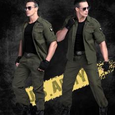 Bộ quần áo hộp nam kaki lính mỹ – xanh bộ đội