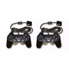Bộ 2 tay cầm chơi game PlayStation 2 DualShock2 (Đen)