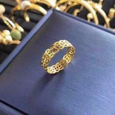 Nhẫn nam nữ mạ vàng 24k (Nhẫn kim tiền tài lộc may mắn)