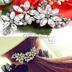 SALE Kẹp tóc hoa đính đá pha lê lấp lánh