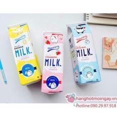 Túi bút hình hộp sữa