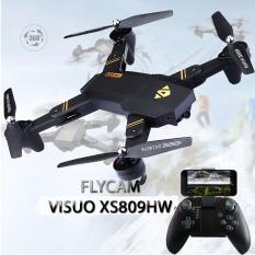 FLYCAM VISUO XS809HW Thế Hệ Mới, HD Camera FPV, Truyền Trực Tiếp Qua Điện Thoại, Gấp Gọn Thông Minh