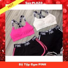 Bộ Tập Gym PINK/ Tập Yoga/ Đi Biển ( Shop còn cung cấp các sản phẩm như: son dưỡng môi, gel trị mụn, máy massage, …)