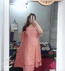 Đầm ren big size giả áo dài cách tân cỡ lớn cho người mập