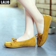 Giày Búp Bê Buộc Dây Lalio LA303 (Vàng)
