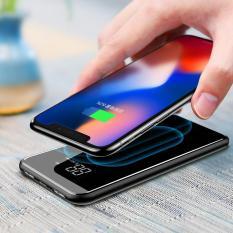 Sạc không dây siêu mỏng siêu đẹp thông minh chuẩn Qi kiêm pin dự phòng Baseus 8000 mAh cho Iphone 8, iphone X,Samsung Galaxy S9, Note8