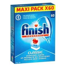 Viên rửa chén bát ly Finish 60 viên classic ( tích hợp bột muối bóng tđ somat alio) dùng cho máy rửa bát
