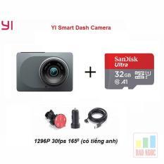 Camera hành trình Xiaomi Yi 2K – Góc 165 độ – Tẩu sạc 1 USB Kèm thẻ nhớ 32GB Sandick