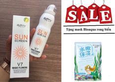 Kem chống nắng toàn thân Hàn Quốc Sun Screen V7 dạng xịt + Tặng 1 mặt nạ Bioaqua