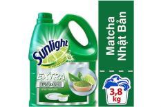 Nước rửa chén Sunlight hương Chanh Matcha trà xanh can 3,8kg