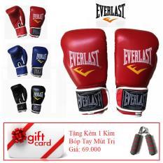 Găng Tay Tập Boxing Cao Cấp ( Màu Đỏ ) – TiGi Mall – Tặng Kèm 1 Bóp Mút