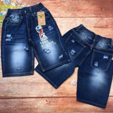 Quần lửng jeans in chữ RUSSIA lưng thun size đại từ 30kg đến 50kg – QT247