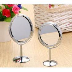 Gương tròn trang điểm 2 mặt gương tiện lợi