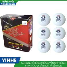 Bộ 3 hộp bóng bàn Yinhe 40+ 3sao đỏ không mối nối (Trắng đỏ)