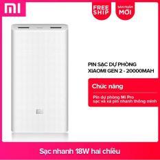 Giá Pin sạc dự phòng Xiaomi 20.000mAh Gen 2C Global (Trắng) – Hãng phân phối chính thức Tại Xiaomi