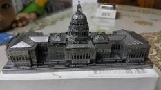 Mô hình kim loại lắp ghép lắp ráp xếp hình trang trí trưng bày 3D toà nhà quốc hội Mỹ bằng thép không gỉ (tặng dụng cụ lắp ghép khi mua 2 bộ bất kì)