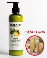 Dầu xả Vỏ bưởi và Bồ kết Herbario 270ml giúp ngăn rụng tóc tặng 1 son