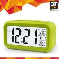 Đồng hồ báo thức kỹ thuật số với đèn LED nền cảm biến đa chức năng: thời gian lịch báo thức nhiệt độ – LC01 (Xanh lá)